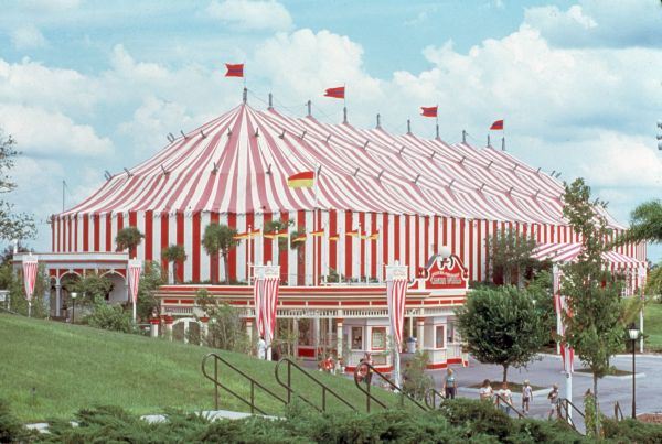 View of big tent at Circus World Theme Park