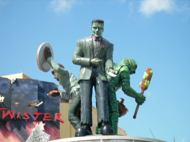 Universal Studios Orlando Monster Cafe with Frankenstein Statue