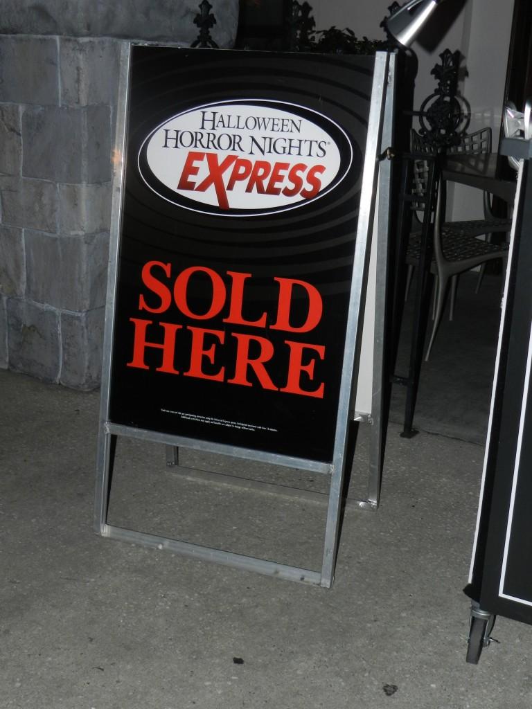 Halloween Horror Nights 2012 Express Pass HHN