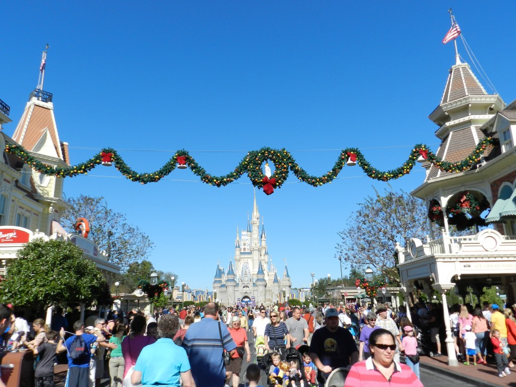Magic Kingdom Christmas on Main Street USA