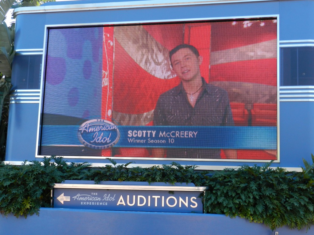 American Idol Experience Disney with former season 10 winner Scotty McCreery.