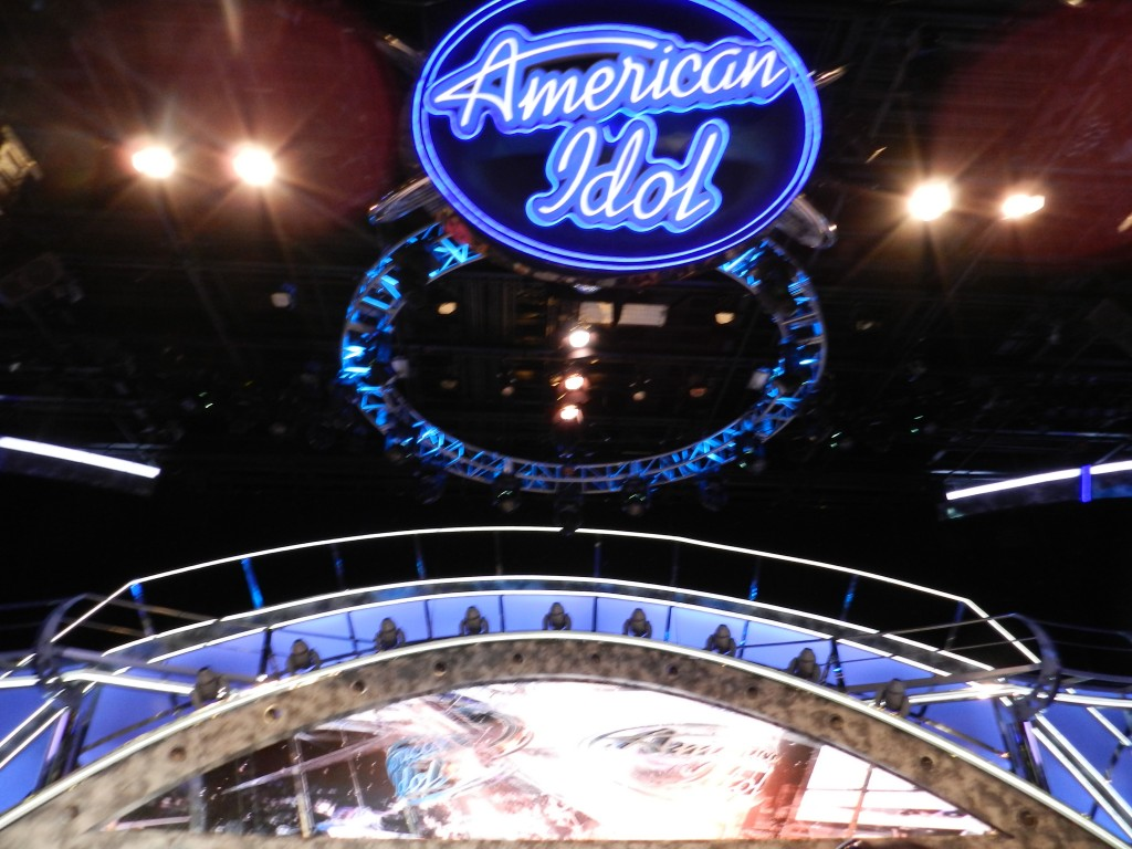 American Idol Experience Disney with Hollywood inspired stage.