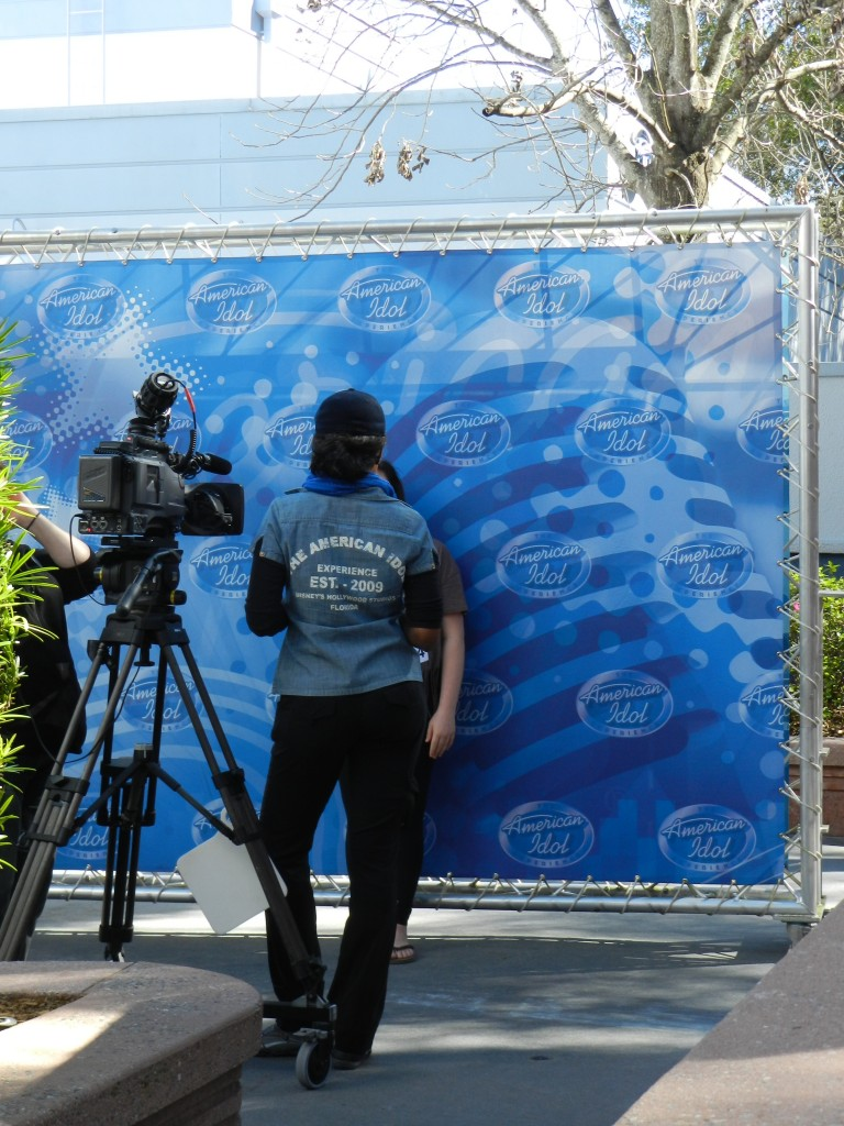 American Idol Experience Disney with Cast Member Getting Participant Footage