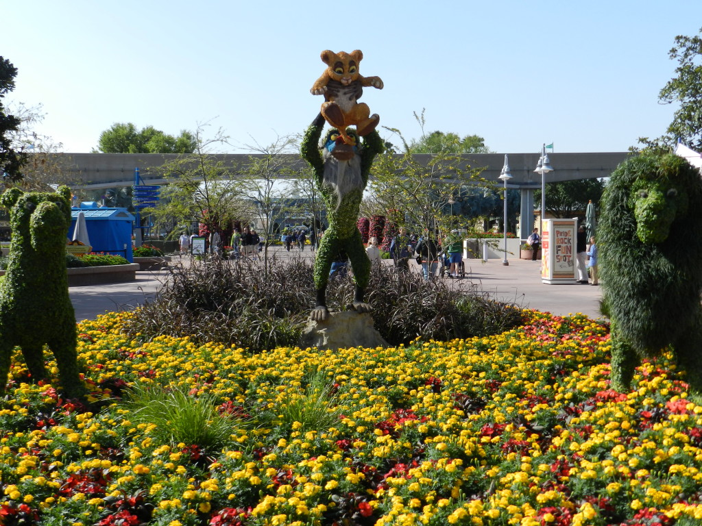 EPCOT Flower Garden Festival 2013 Lion King Topiary with Simba and Rafiki