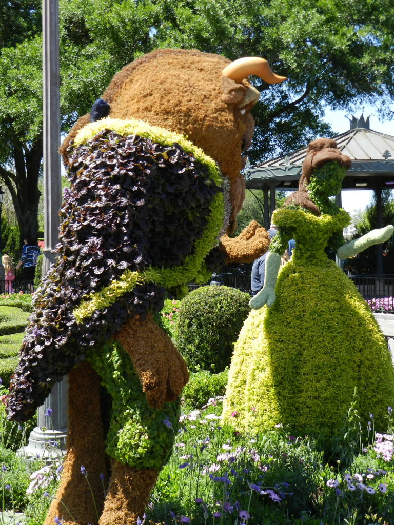 Epcot Flower and Garden Festival Belle and Beast Topiary