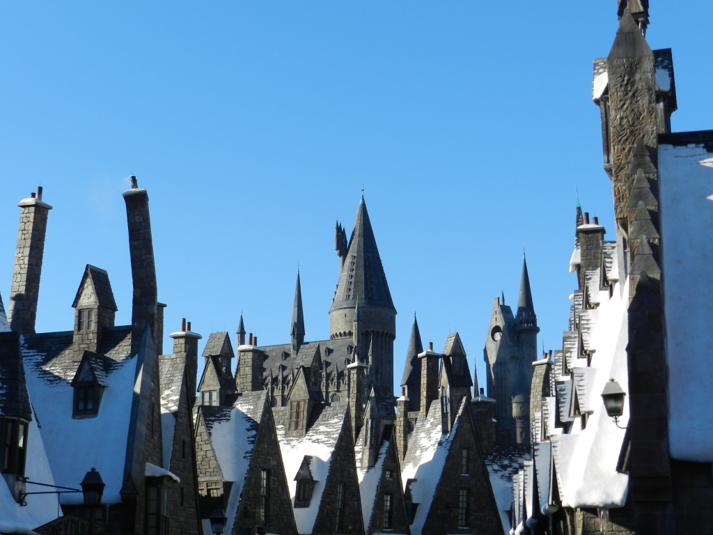 Wizarding World of Harry Potter Celebration overlooking Hogsmeade