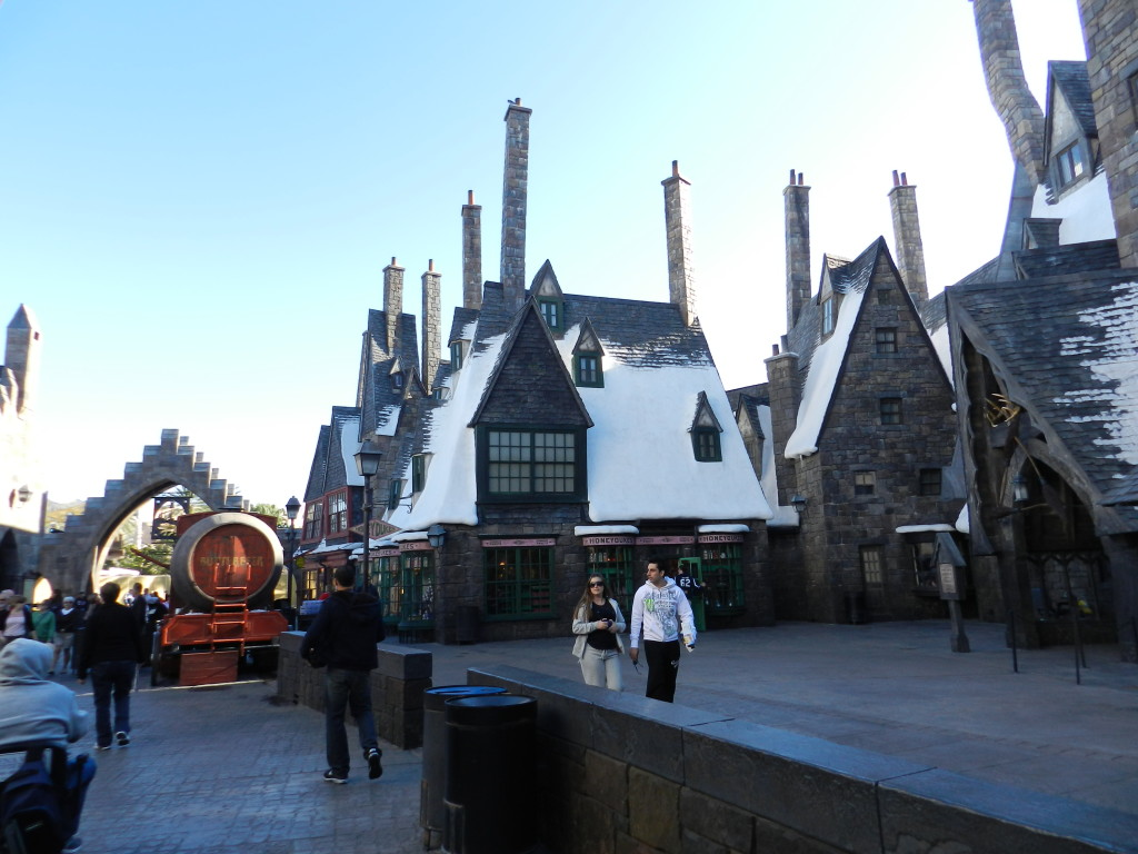 Hogsmeade Village in the morning Wizarding World of Harry Potter Orlando.
