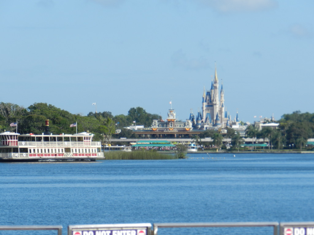Magic Kingdom view from the ferry boat. Sundays at Disney.