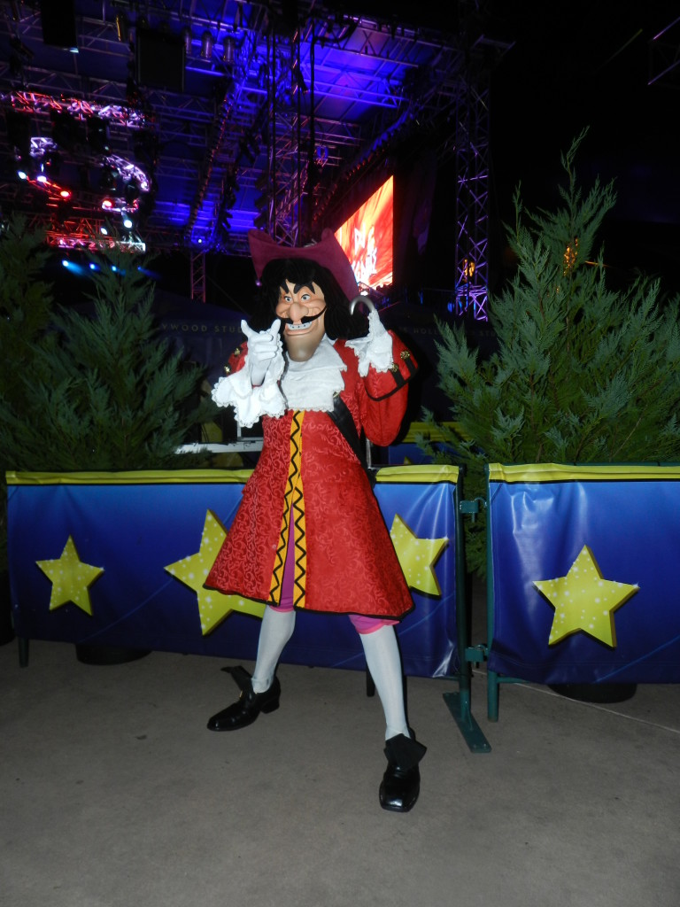 Captain Hook at the Friday the 13th Celebration. Disney Villains Friday the 13th Party