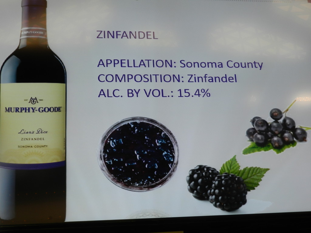 Murphy-Goode Winery 15.4% Zinfandel called Liar's Dice at Epcot Food and Wine Festival