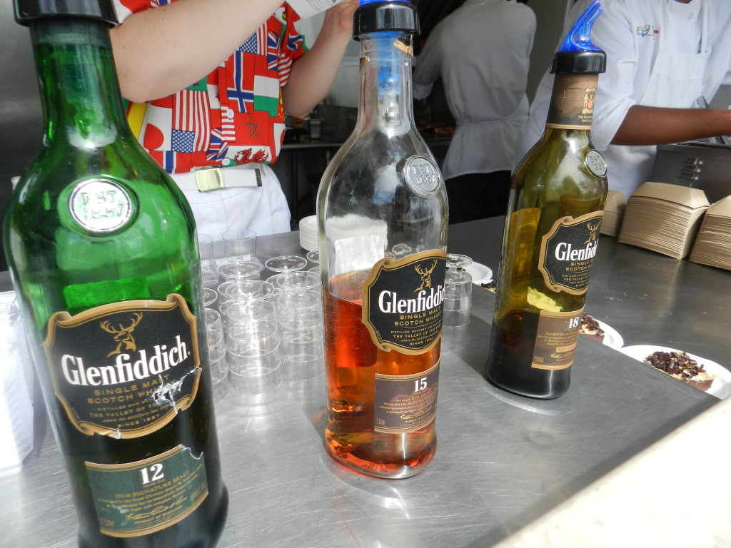 Scotland Marketplace: Glenfiddich Scotch Flight at Epcot Food and Wine Festival Menu 2013