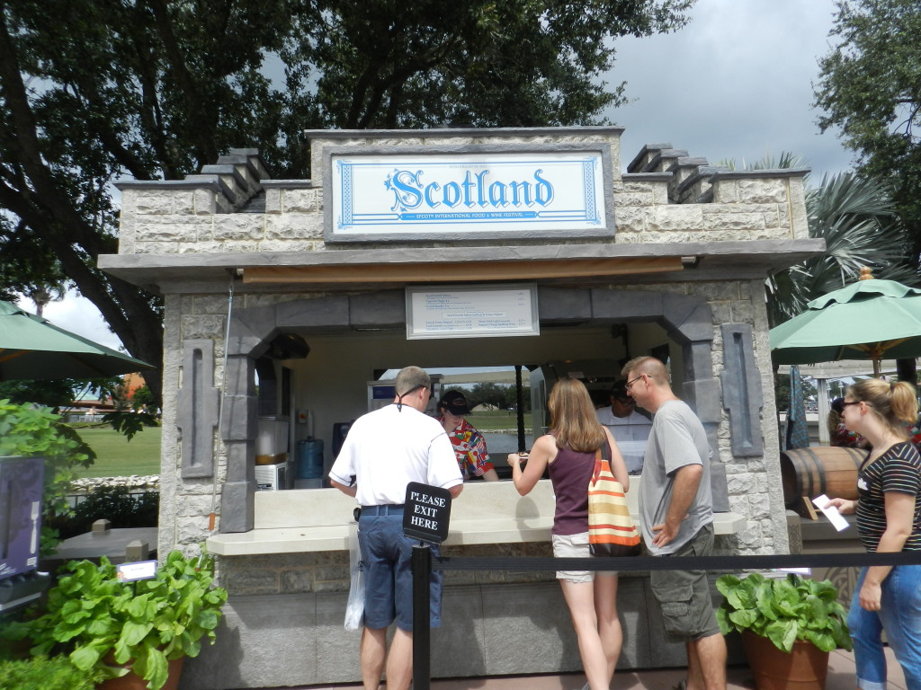Scotland Marketplace Epcot Food and Wine Festival menu