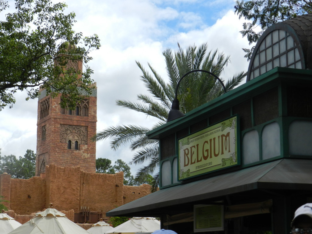 2013 Epcot Food and Wine Festival Menu with Belgium Kiosk