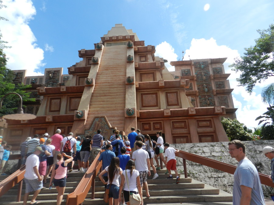 Mexico Pavilion at Epcot. Ancient Pyramid. #DisneyTips #Epcot
