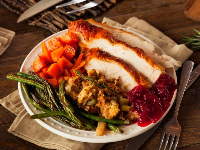 Creamy Carrots Roasted Turkey Green Beans Thanksgiving at Disney