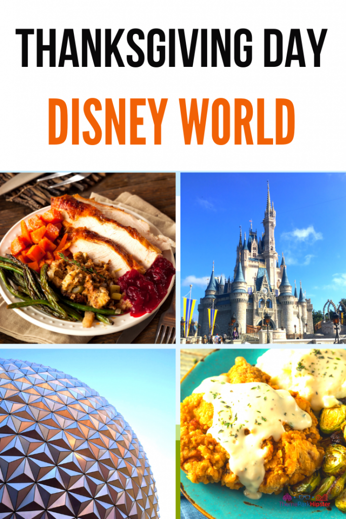 Is Disney Open for Thanksgiving Day? Holiday Feast Spread with Cinderella Castle.