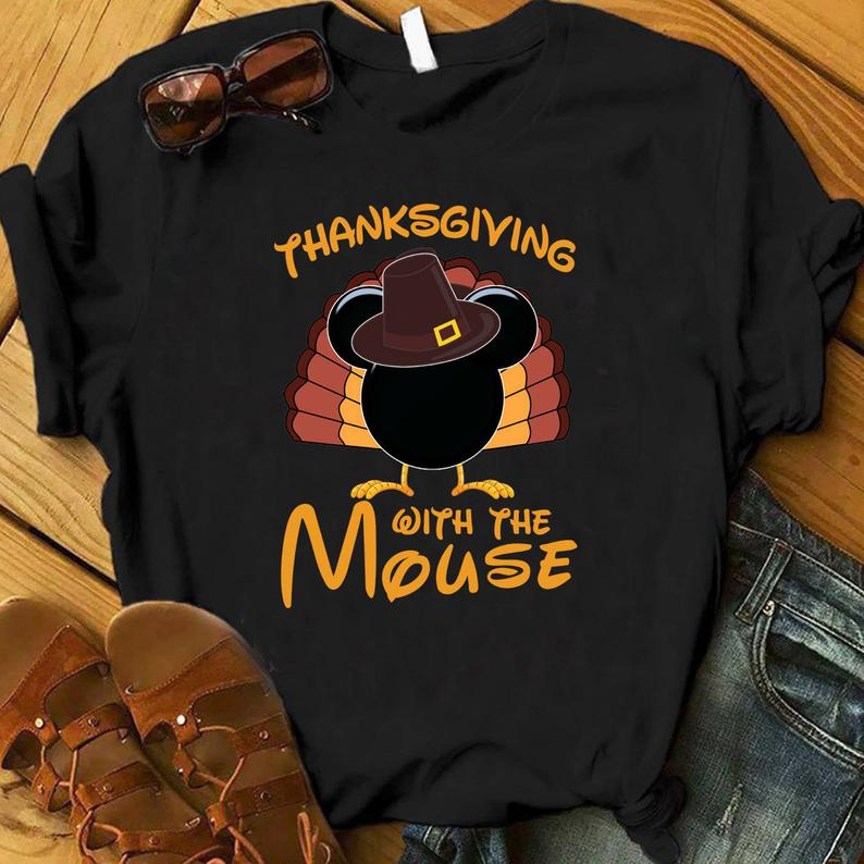 Thanksgiving with the Mouse Etsy Shop. Disney Thanksgiving Shirt.
