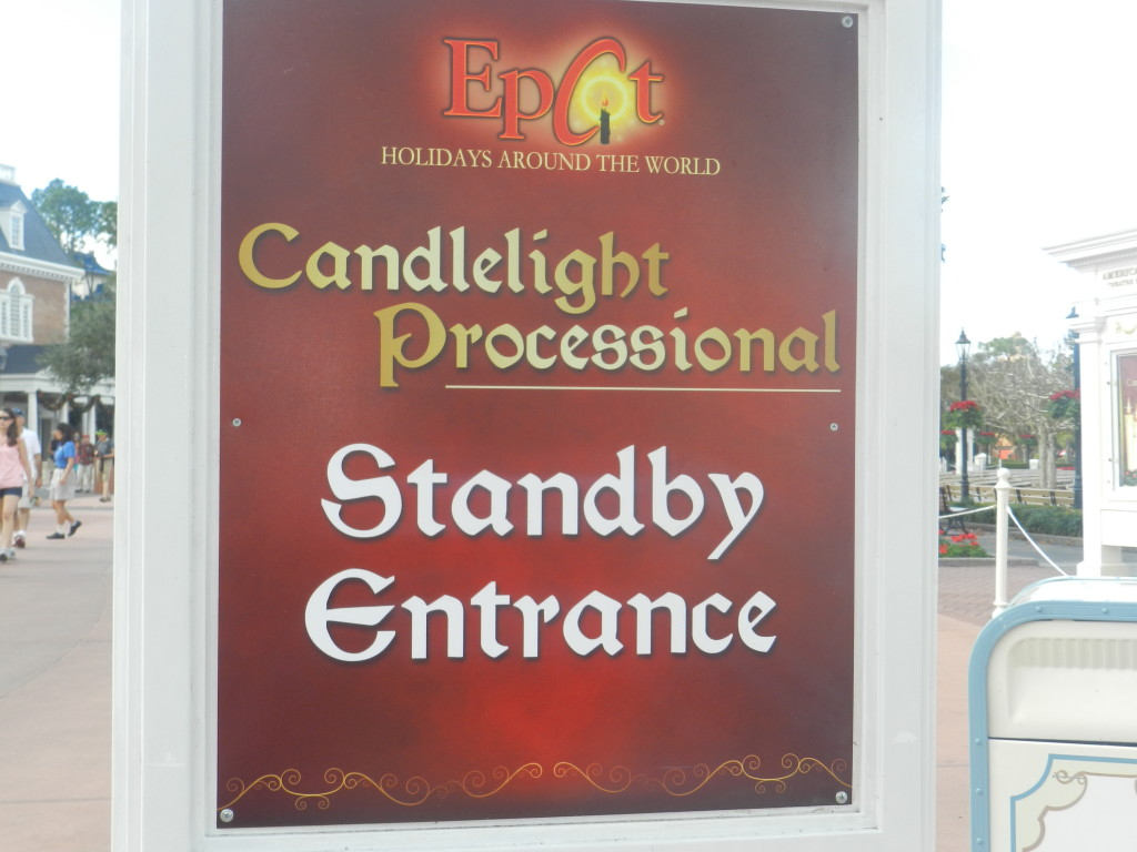 Christmas at Epcot: Candlelight Processional Standby Entrance