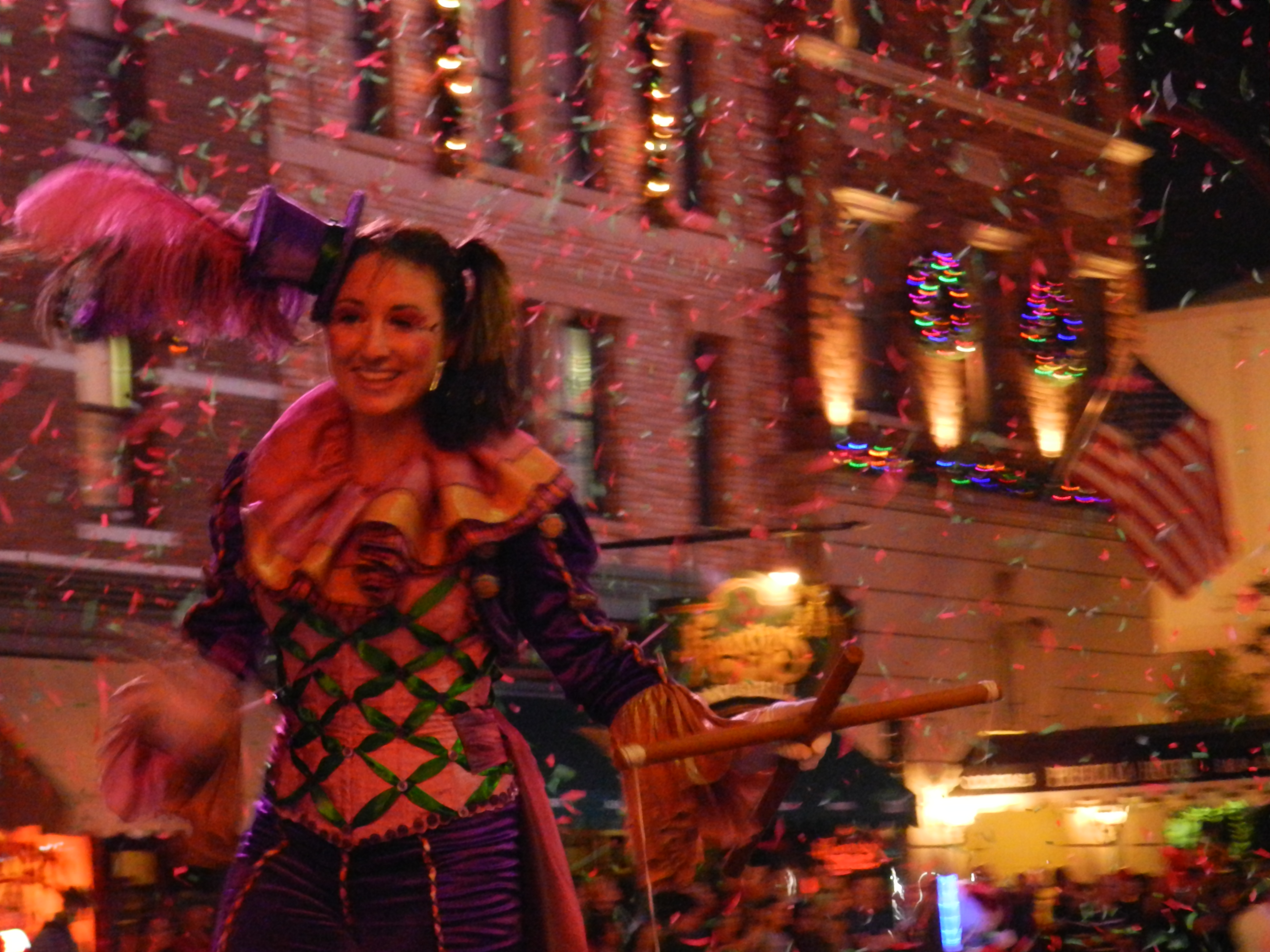 Macy's Holiday Parade at Universal Studios party with confetti