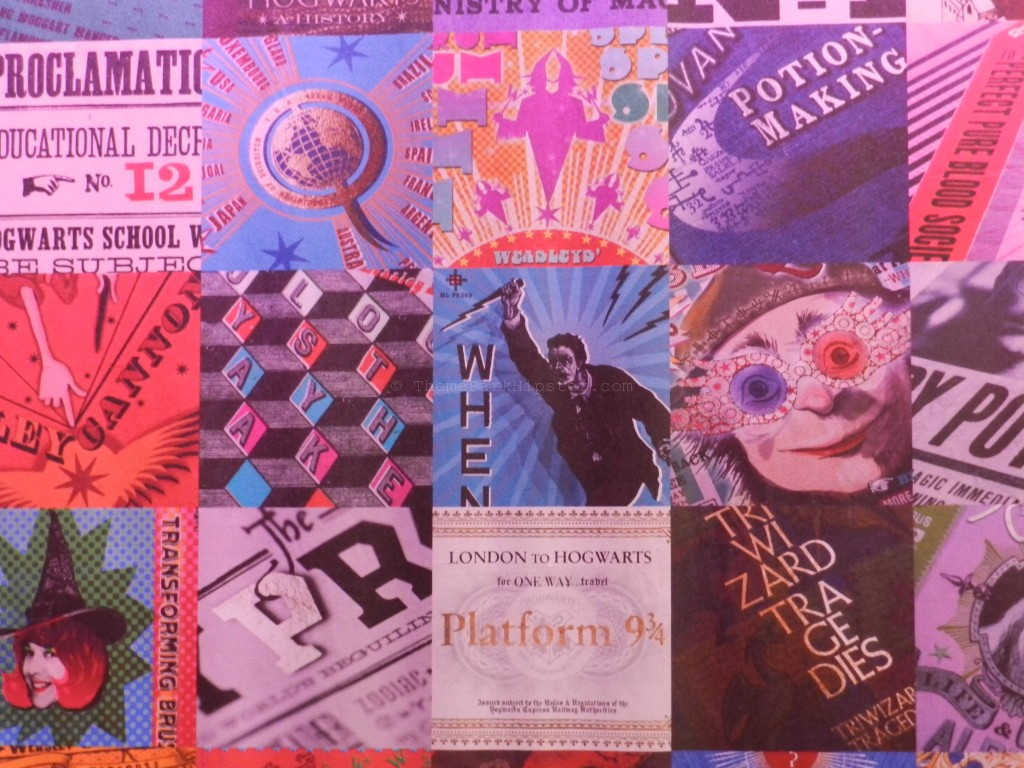 You may recognize some of the famous MinaLima designs from the Harry Potter films especially the Quibbler with Red and Blue Glasses