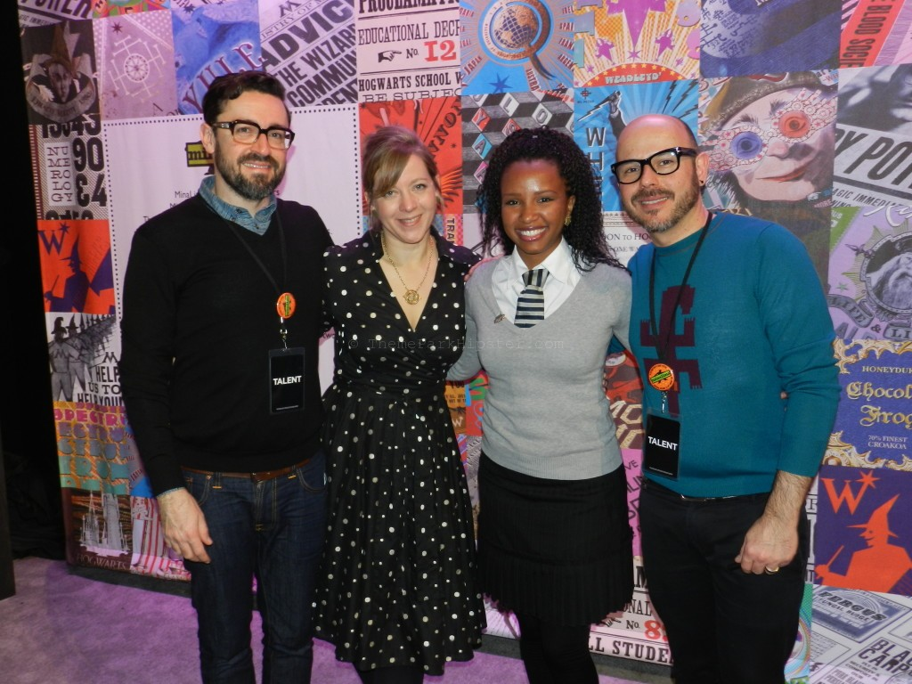 ThemeParkHipster with Mauricio, Miraphora, and Eduardo of MinaLima Design at A Celebration of Harry Potter