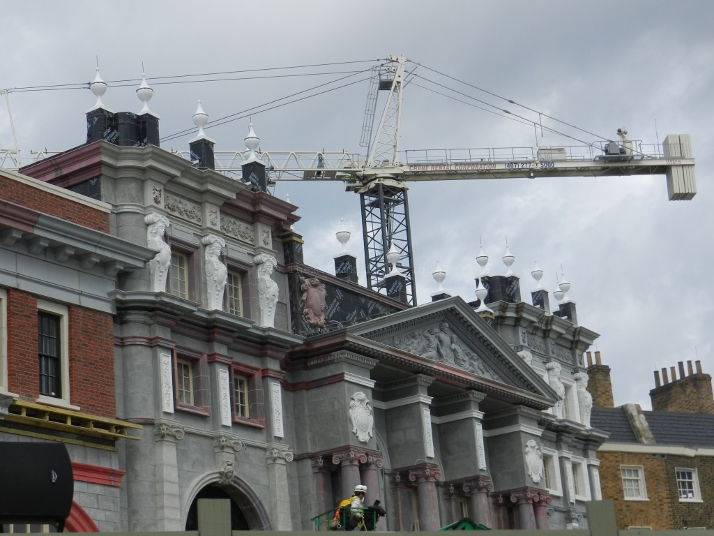 Tall Crane Hanging in Diagon Alley Construction photos at Universal Studios January 2014