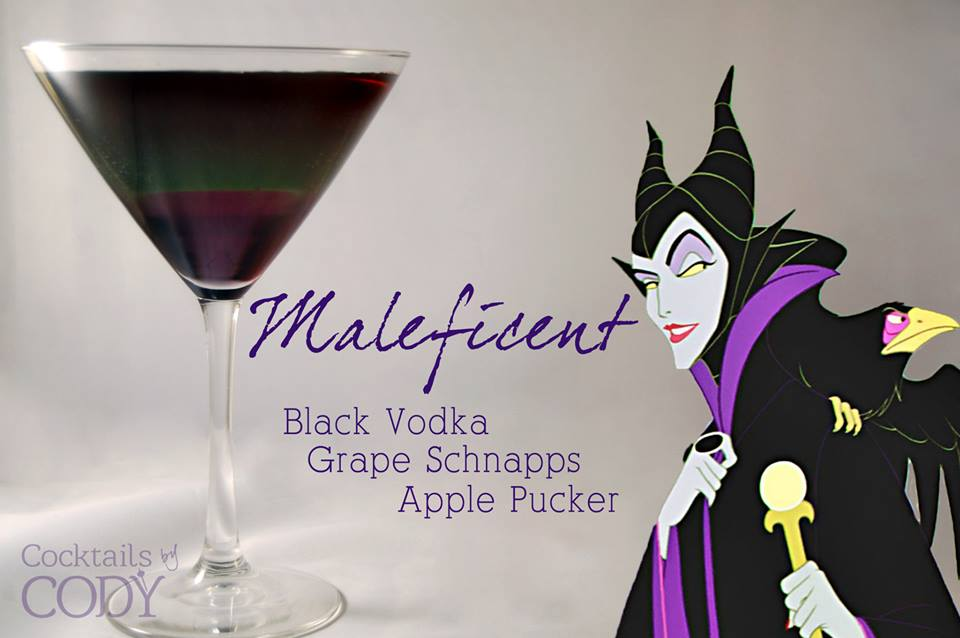 Maleficent Disney Inspired Cocktails by Cody