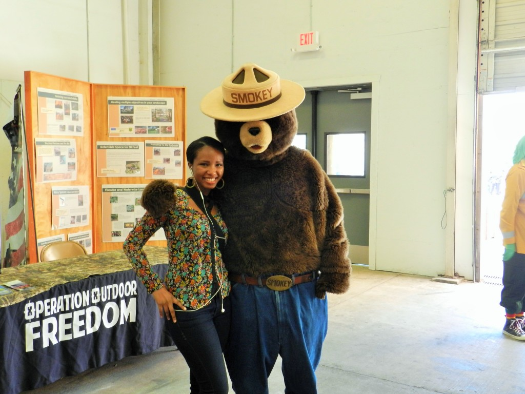 It's me and Smokey the Bear at the Florida State Fair in Tampa.
