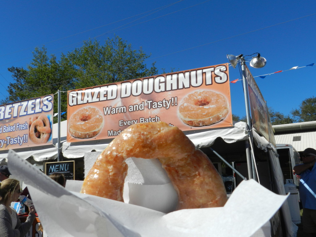 Delicious Glazed Doughnut at the Fair in Tampa