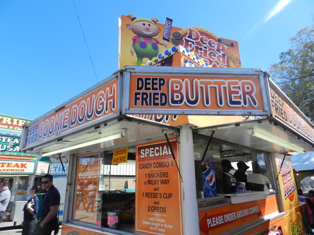 Deep Fried Butter Kiosk at the Florida State Fair