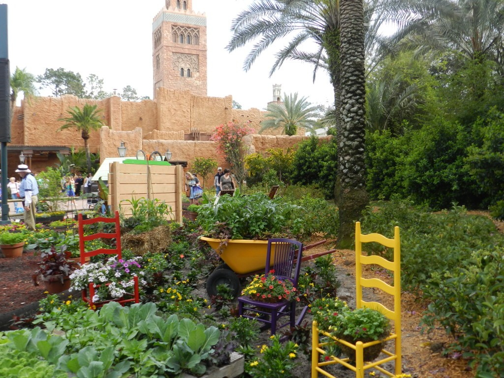 Garden Love outside Morocco at Disney's Epcot. #DisneyTips #Epcot