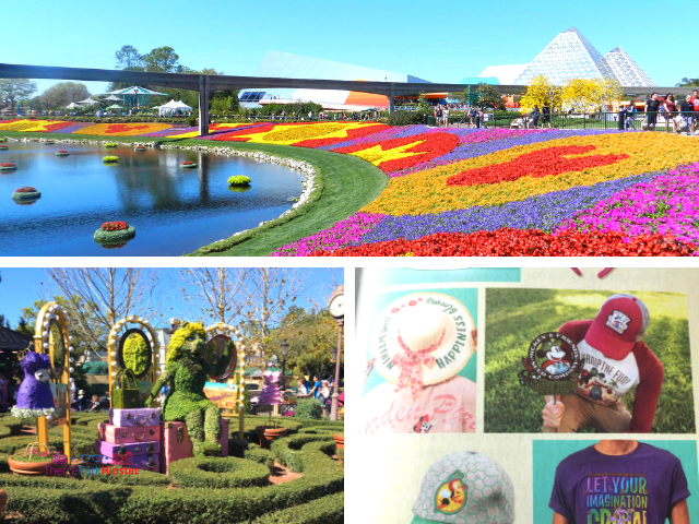 Epcot Flower and Garden Festival Tips with colorful garden topiary and Miss Piggy
