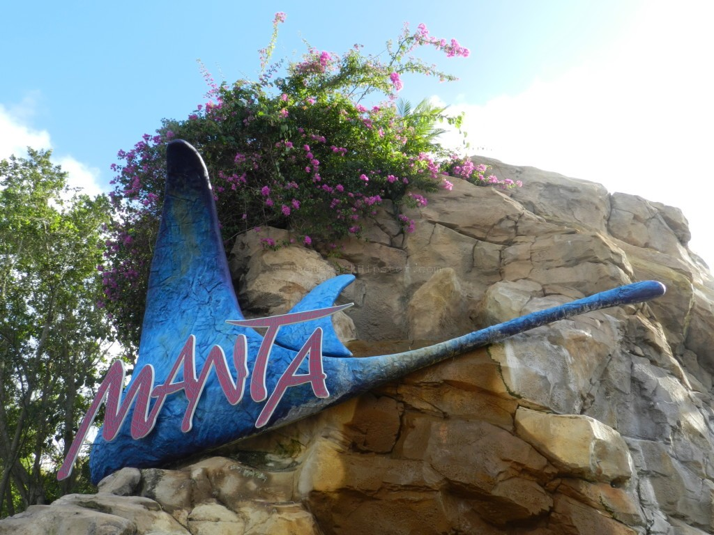 SeaWorld Orlando Manta blue roller coaster