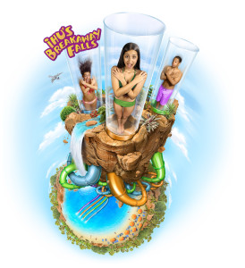 Ihu's Breakaway Falls at Aquatica Orlando