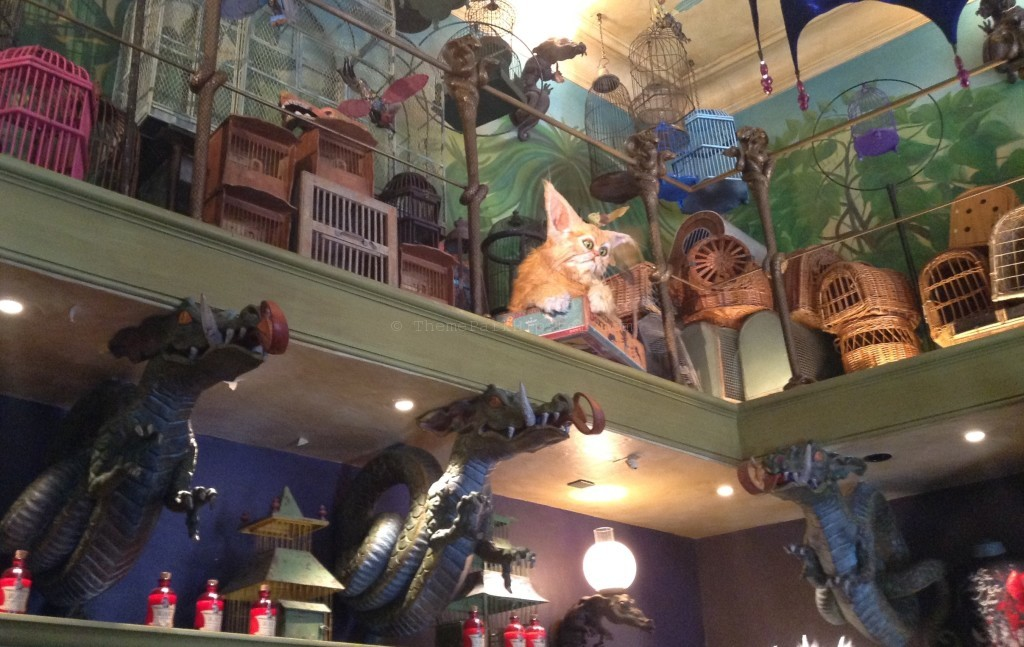 Diagon Alley: Fantastic Beasts and stuffed animals on shelves