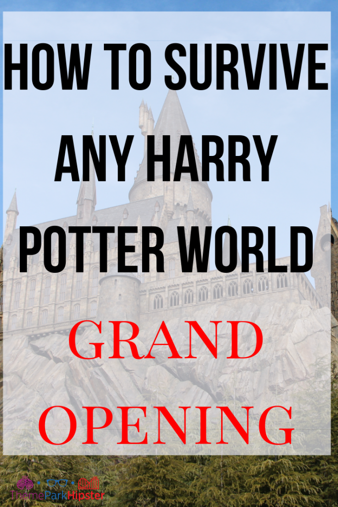 how to survive any harry potter world grand opening day with Dragon