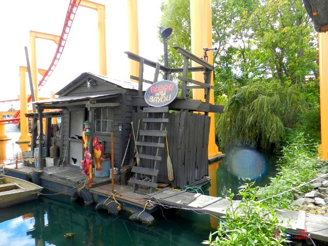 Blood on Bayou Scare zone Cedar Point