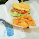 Chicken and Waffle Sandwich from Cletus' Chicken Shack Universal Studios