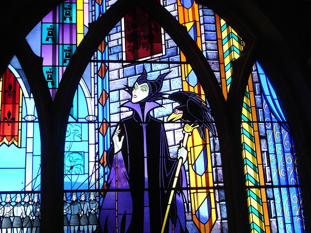 Disney Halloween Movies Stained Glass of Maleficent