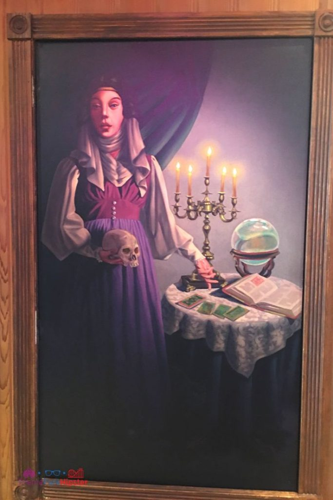Disney Memento Mori Shop at the Magic Kingdom with a painting of Madame Leota