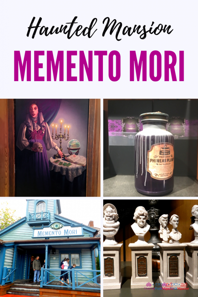 Disney Memento Mori at the Magic Kingdom with Madame Leota in from of Spell book