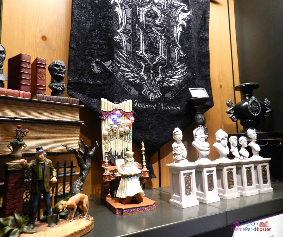 Disney Memento Mori Shop at the Magic Kingdom Haunted Mansion Cemetery Sculptures
