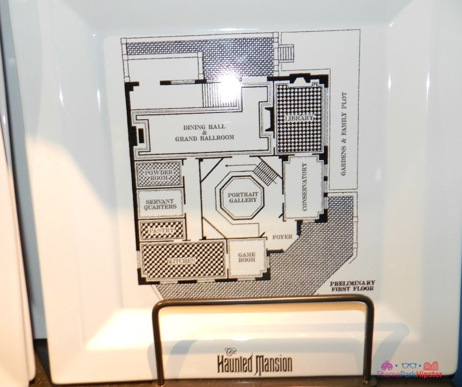 Haunted Mansion Floor plan on dining plates