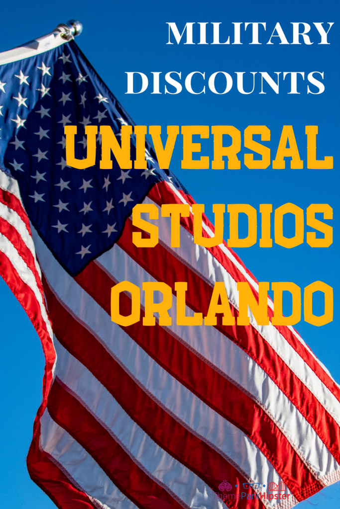 Military discounts at Universal Studios Orlando Image for Pinterest.