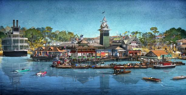 Photo: Disney Concept Art for the BOATHOUSE