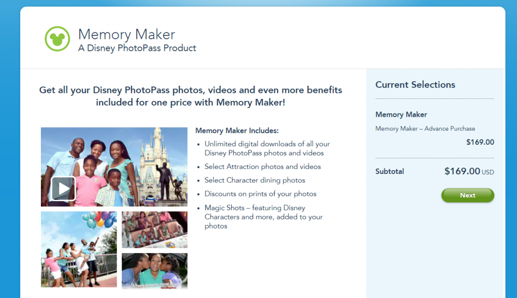Walt Disney World Memory Maker