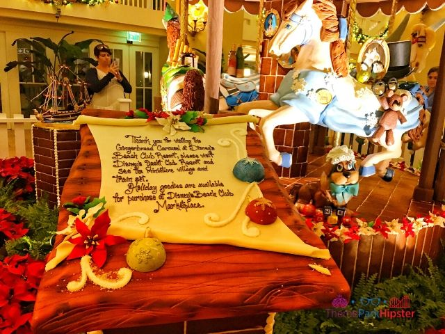 Disney Gingerbread House Carousel at Beach Club Resort with Wendy from Peter Pan horse