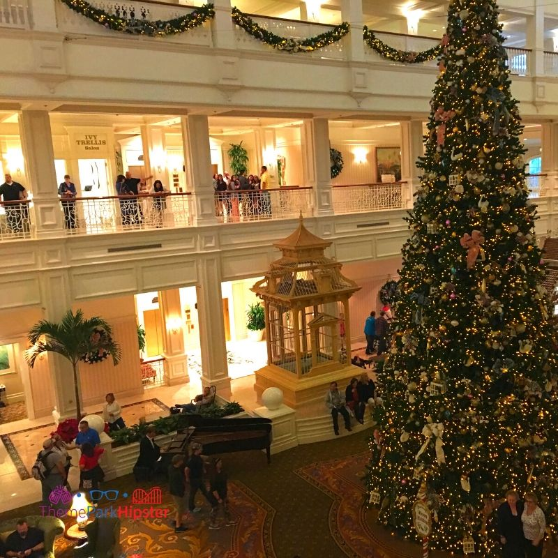Disney Grand Floridian Giant Christmas Tree in Lobby