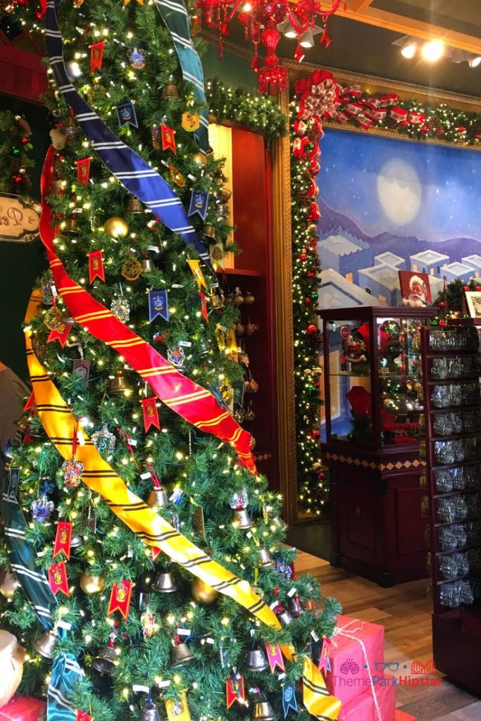 Hogwarts House Christmas Tree at Universal Orlando Holidays