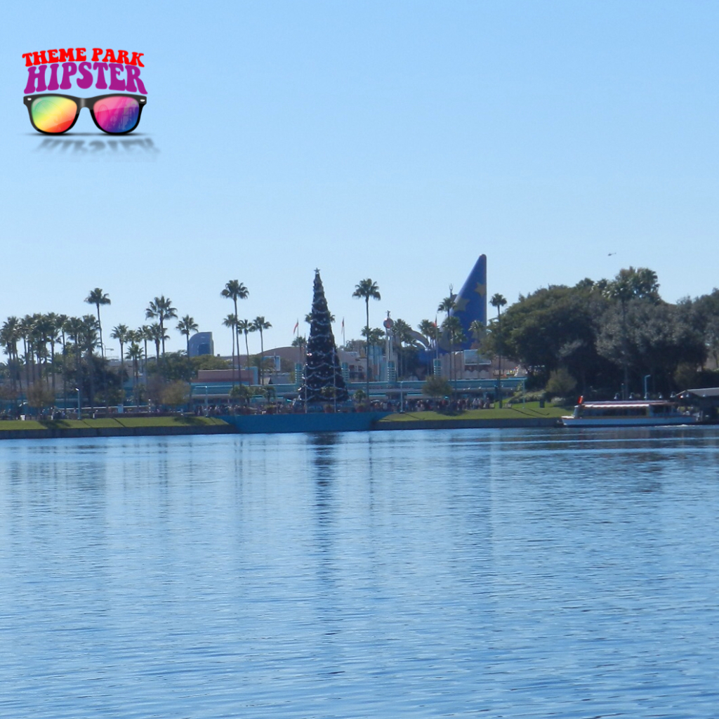 Taking the scenic yuletide walk from Disney's Hollywood Studios to the Boardwalk Inn